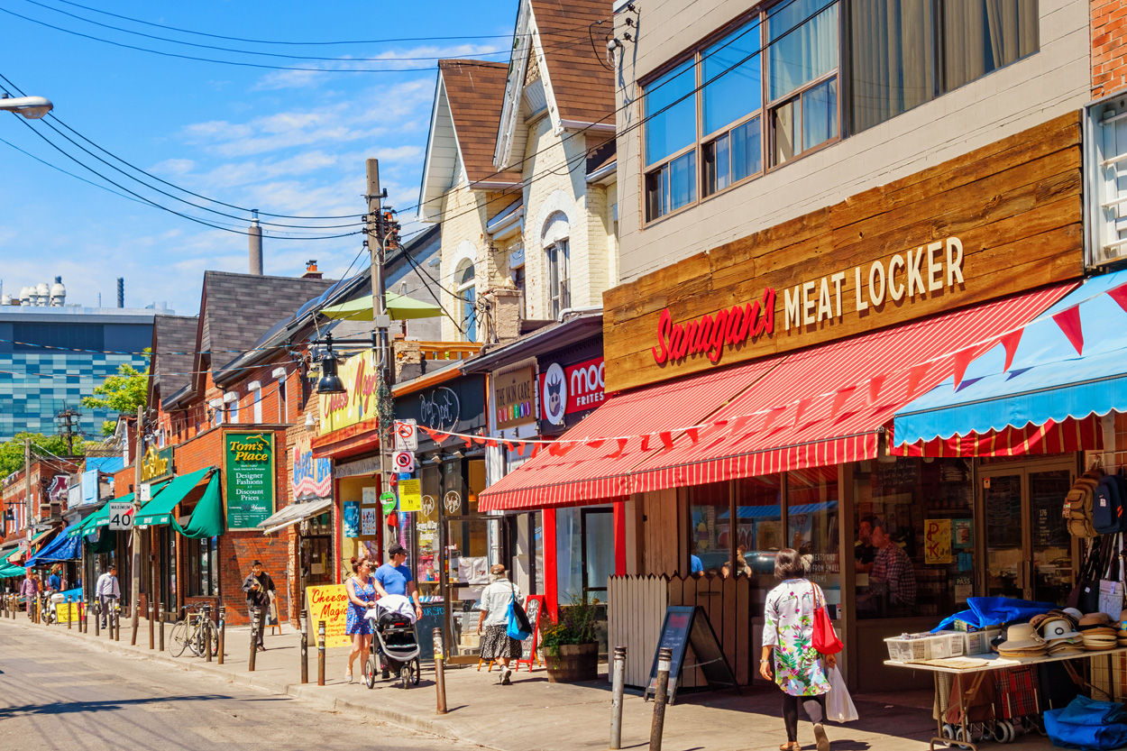 Kensington Market neighbourhood in central Toronto
