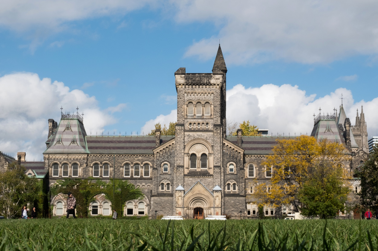University College at the University of Toronto, on King's College Circle